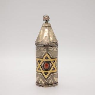 Megilah Etui - .840 Silber - Turkmenistan - Erste Hälfte des 20. Jahrhunderts