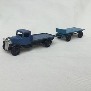 Dinky Toys - 1:43 - Flatbed Wagon Liverpool with Trailer- Nr. 25E