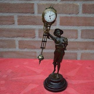 junghans - Swinger Mystery Clock-Bronze-1950 - Bronze...