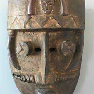 Maske (1) - Holz - Grebo Kru - Elfenbeinküste