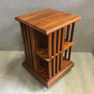 Große Karussell-Buchmühle aus Mahagoniholz. - Große Version - 8 Vaks