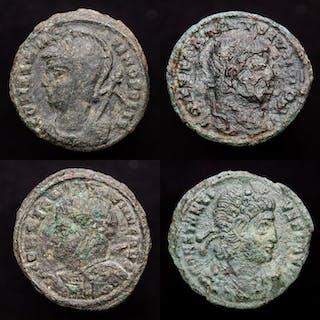 Römisches Reich - Lot comprising 4 AE coins: Constantine...