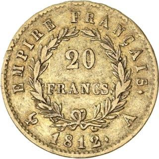France - 20 Francs 1812-A Napoléon I- Gold