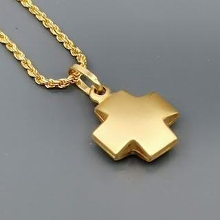 18 quilates Oro amarillo - Collar con colgante