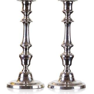 Candelero (2) - Bronce plateado - Inglaterra - Mediados del siglo XIX