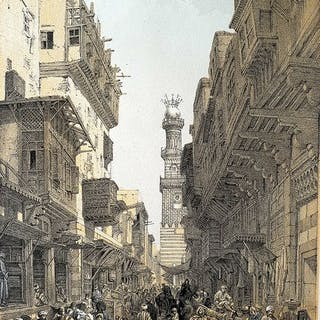 6 prints by David Roberts (1796 – 1864) - Collection...