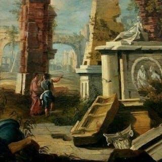 Anonimo - Capriccio, paesaggio con rovine