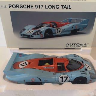 Autoart - 1:18 - Porsche 917 Long Tail1971 Gulf, Siffert, Bell, #17 RAR