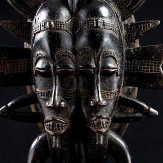 Mask - Wood - Kpelie - Senufo - Ivory Coast
