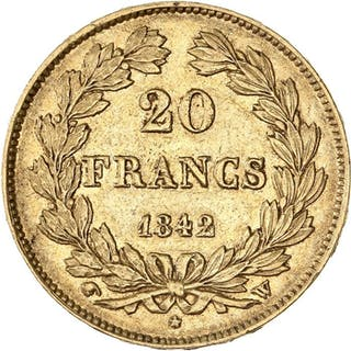 France - 20 Francs1842-W Louis Philippe I - Gold
