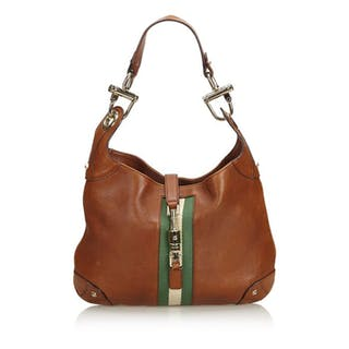 Gucci - Leather Nailhead New Jackie Shoulder Bag Schultertasche
