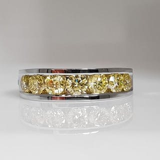 14 kt. White gold - Ring - Colour Treated 1.43 ct Diamond - VVS2