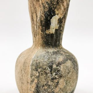 Islamic Glass Flask with Bell Shaped Body