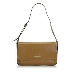 Burberry - Leather Shoulder Bag Schultertasche