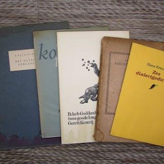 Small Press - Lot met 5 poëzie uitgaven - 1925/2008