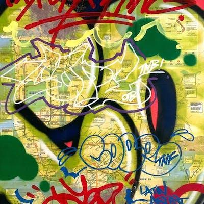 """COPE2 - """"Bronx King"""" NYC Transit Map"""