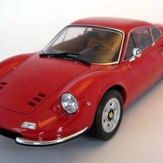 K&K - 1:12 - Ferrari Dino 246 GT Red 1973 - Limited Edition 600 Pcs - Mint Boxed