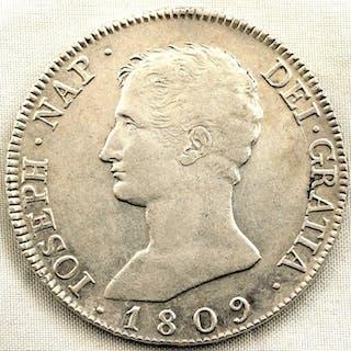 Spain - 20 Reales - 1809 - Madrid - Jose Napoleon - MUY ESCASA - Silver