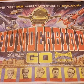 Thunderbirds are go! -1966 original cinema poster -United...