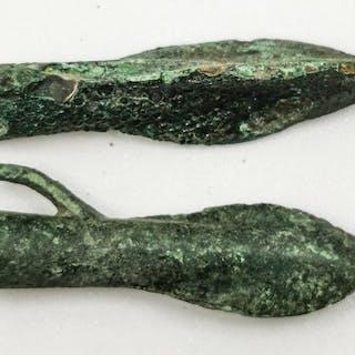 Mesopotamian aus der Bronzezeit Bronze Paar Pfeile - (2)