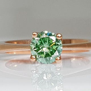 14 kt. Pink gold - Ring - Colour Treated 0.75 ct Diamond