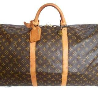Louis Vuitton - Keepall 60 Luggage bag + LV Accessrories + LV Padlock (311) *