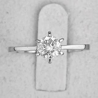 14 kt. White gold - Ring - Clarity enhanced 0.53 ct Diamond