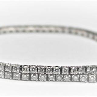 18 kt. White gold - Bracelet - 1.70 ct Diamond