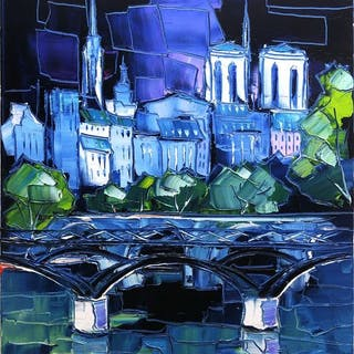 Caroline Mandrafina - Le pont des Arts