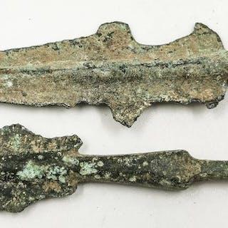 Antico greco arcaico Bronzo Coppia di frecce - (2)