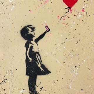 Piek7 - Balloon With Girl (after Banksy)
