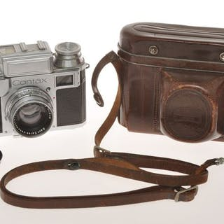 """Zeiss Ikon , Contax III rangefinder camera with 50/2 Sonnar """"works"""", exc++++"""