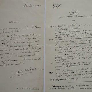 André Malraux (1901/1976) - Een brief bij een voorwoord - 1929