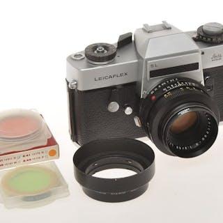Leica (Leitz)Leicaflex SL chrome with Leica 50/2 Summicron lens, exc+++ c.1969