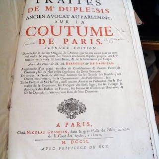 M. Duplessis  - Traités de M