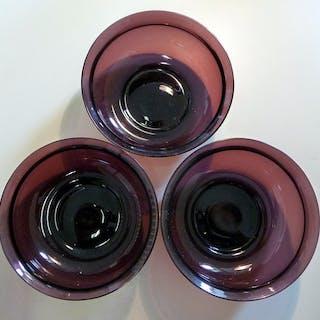 Karel P. C. de Bazel - Leerdam - Glasobjekt, Tabletts (3) - Glas