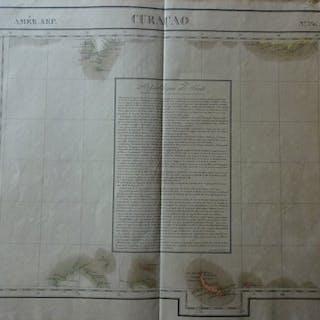 Südamerika, Curacao,Caraïbische Zee,; P. Vandermaelen - Curacao - ca. 1830