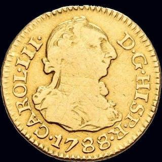 Spain - Carlos III (1759- 1788) - 1/2 escudos- 1788