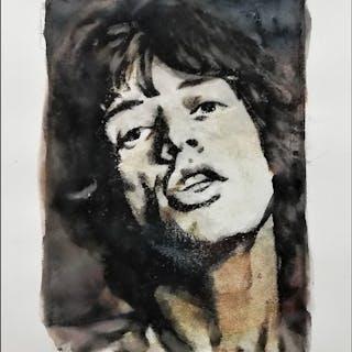 Rolling Stones - Mick Jagger by Artist Emma Wildfang - Kunstwerk/ Gemälde