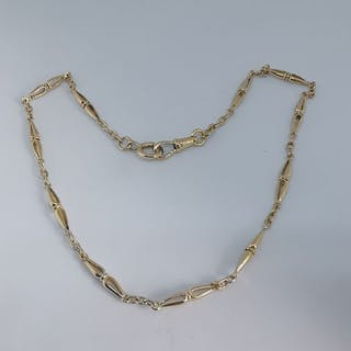 18 kt. Yellow gold - watch chain