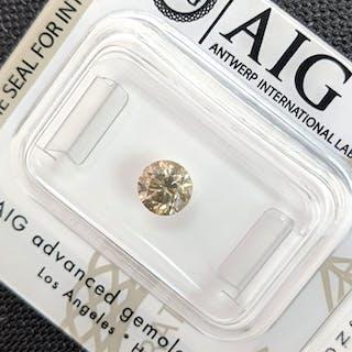 Diamond - 0.70 ct - Brilliant - fancy brown yellow - VS1, No Reserve Price