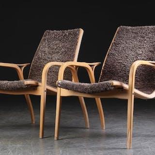 Yngve Ekström - Swedese - Set of 2 lounge chairs ' Lamino '