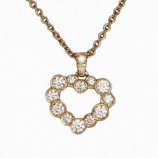 Leo Pizzo - 18 kt. Pink gold - Necklace with pendant - 0.52 ct Diamond