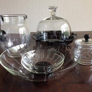 Leerdam - Käseglas, Obstschale, Krug und Marmeladenglas (6) - Glas, Kristall