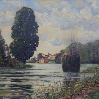 John Phillips (American 20th century) - View on a river