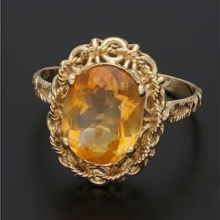 18 kt Gold - Ring Citrin