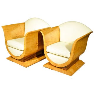 Armchair, Couple Art Deco Style
