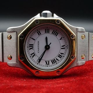 Cartier - Santos Octagon- Ref. 0907 - Women - 1990-1999
