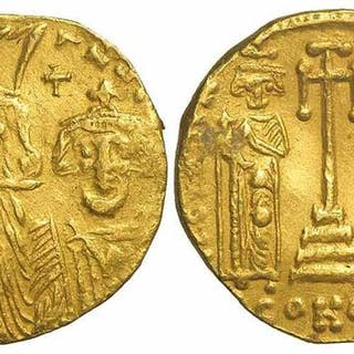 Byzantine Empire - AV Solidus, Heraclius (610-641)- Gold