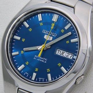 "Seiko - Unisex Automatic 21 jewels ""Sport Blue - Yellow..."